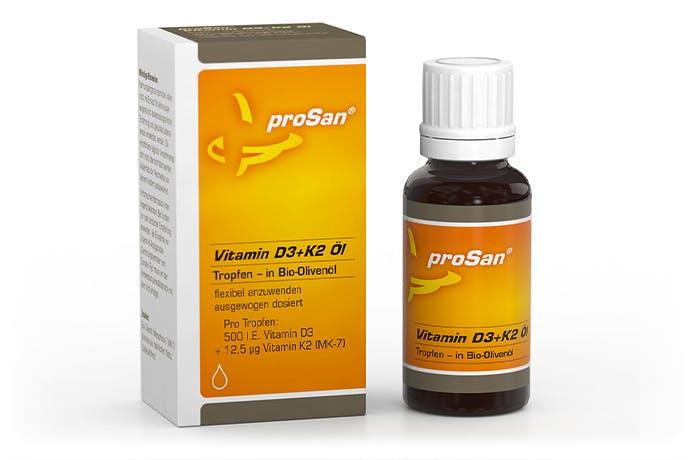 proSan Vitamin D3+K2 Öl