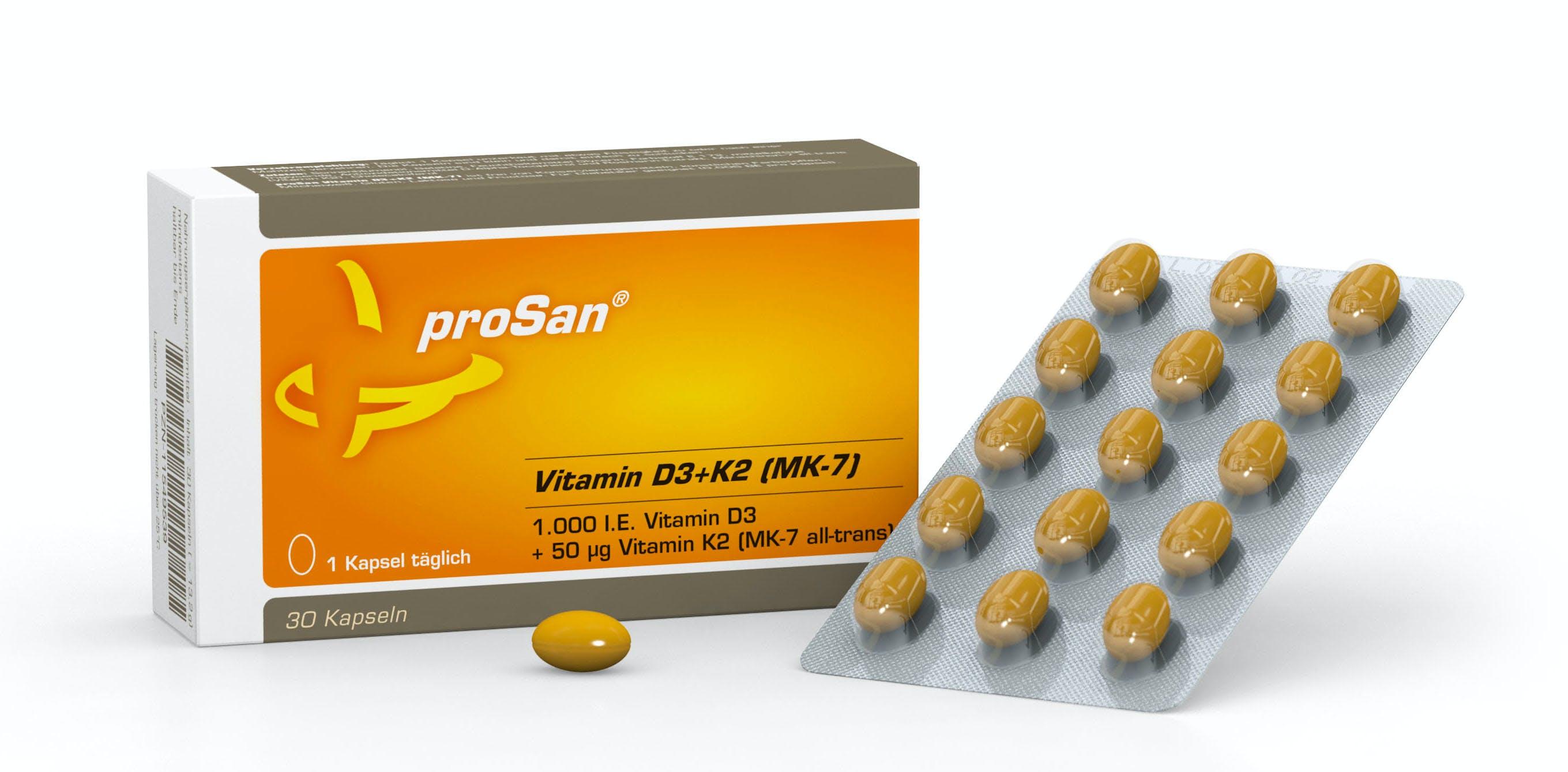 proSan Vitamin D3+K2 (MK-7)